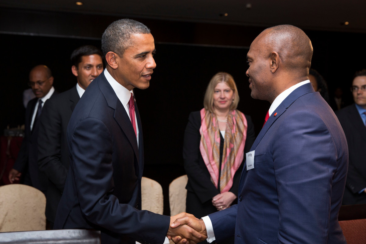 Heirs holdings Chairman, Tony Elumelu and Obama - anniversary of the Power Africa Initiative