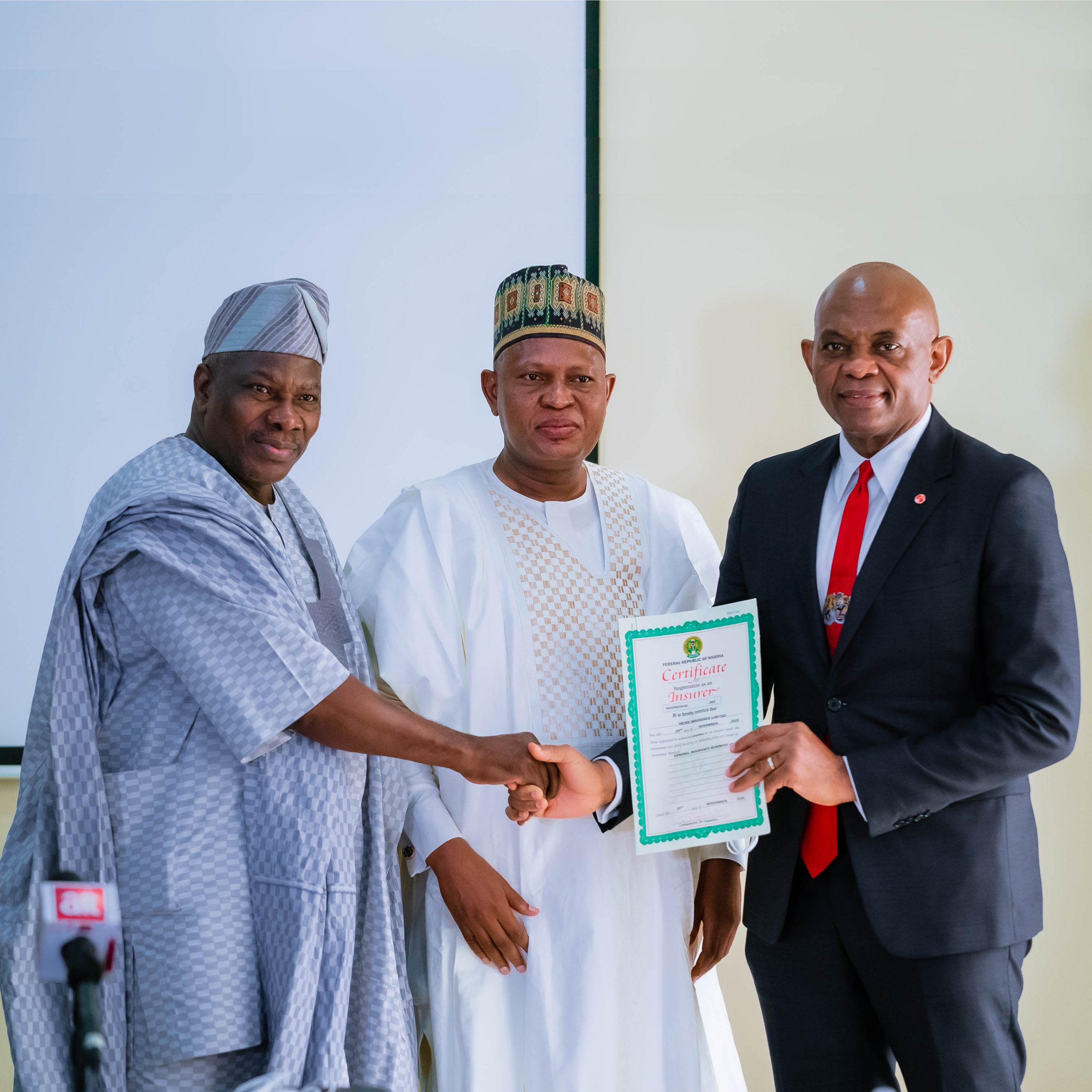 NAICOM: Chairman of Heirs Holdings receives operating licence for Heirs Insurance and Heirs Life