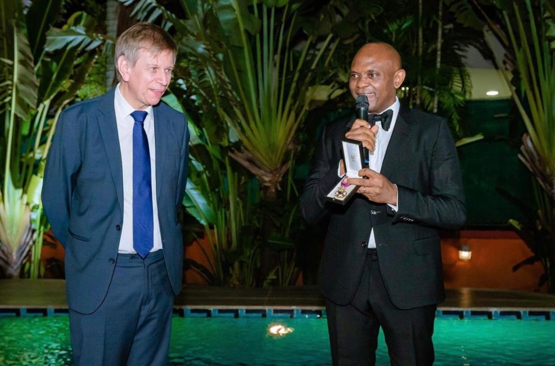 Ambassador of Belgium to Nigeria, H.E. Ambassador Daniel Bertrand and Tony Elumelu