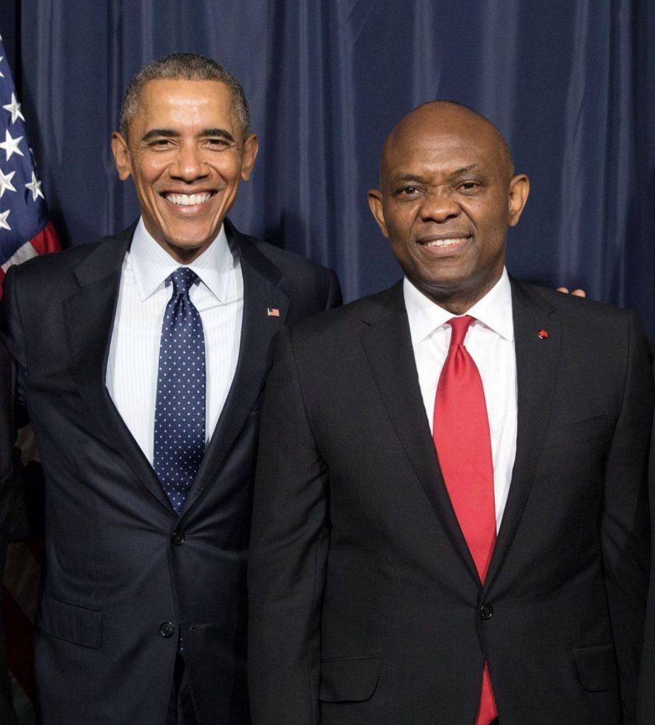 Heirs holdings Chairman, Tony Elumelu and Obama