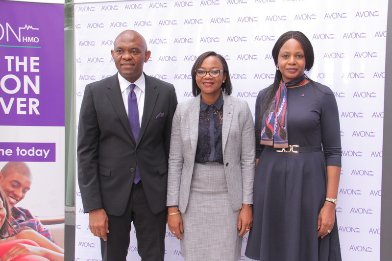 Heirs holdings Chairman, Tony Elumelu, AVON HMO CEO, Simbo Ukiri and Dr Elumelu