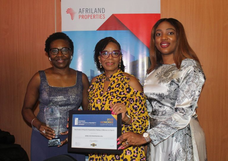 Afriland Properties Awarded Real Estate and Property Organisation Making a Difference in Nigeria